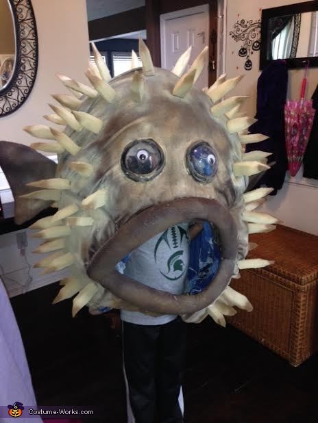 Puffer Fish on Ty, Puffer Fish Costume