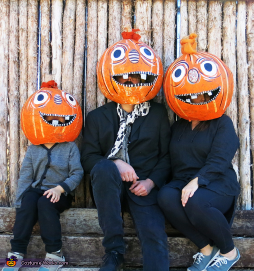 Pumpkin Head Family Costume