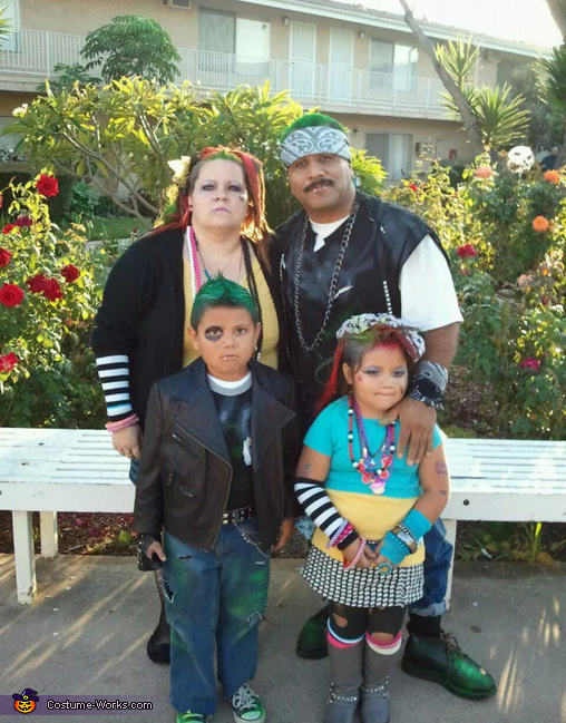 Punk Rock Family Costume