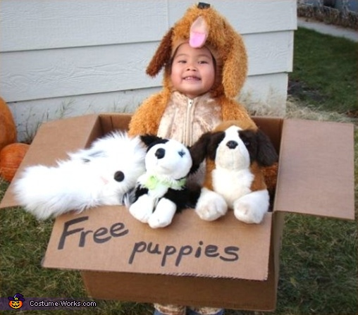 Free Puppies - Homemade costumes for kids