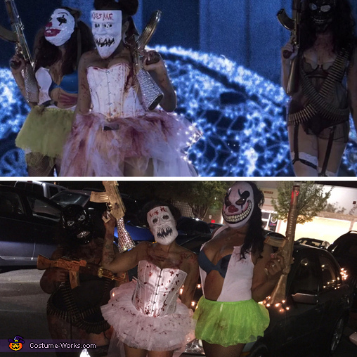 This is us vs. the movie, Purge Election Year Candy Girls Costume