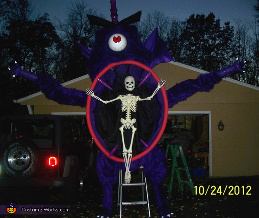 One Eyed Purple Monster Costume