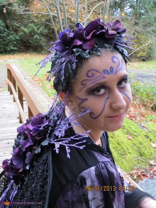Kayleigh Fairy side view, Purple Fairy Costume