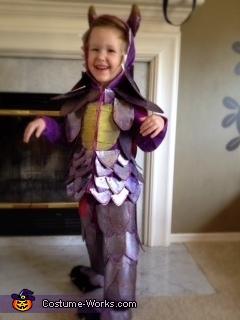 Purple Glitter Dragon Costume