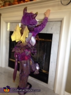 Purple Glitter Dragon Homemade Costume