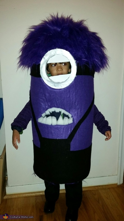 Purple Minion Costume for a Boy