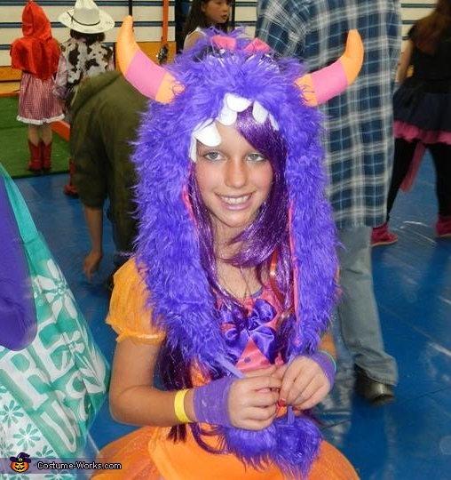 Purple Monster Homemade Costume