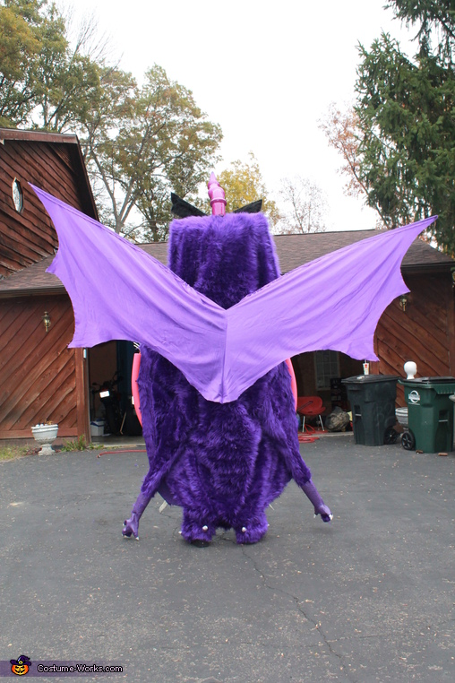 rear view , Purple People Eater Costume