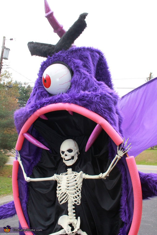 showing detail in the eye, Purple People Eater Costume