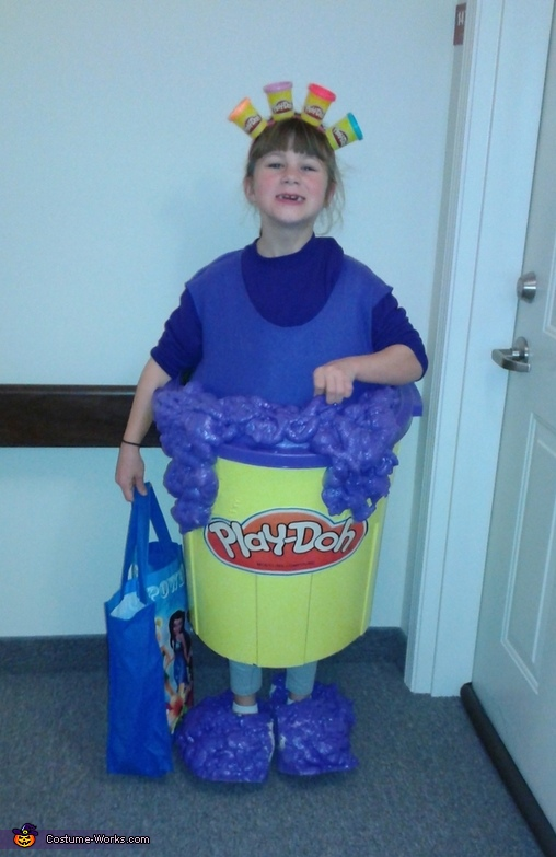 Purple Playdoh Homemade Costume