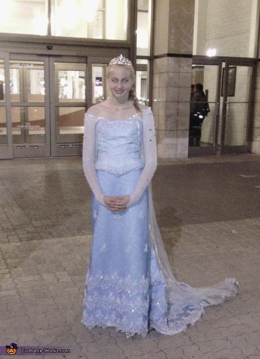 Queen Elsa Homemade Costume