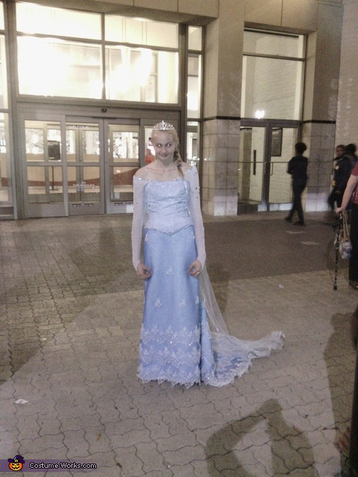 Queen Elsa Homemade Costume