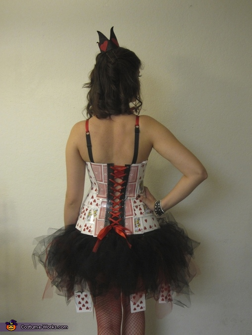 Queen of Hearts- Back View!, Homemade Queen of Hearts Costume