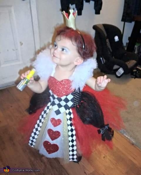 Queen of Hearts Girl's Halloween Costume
