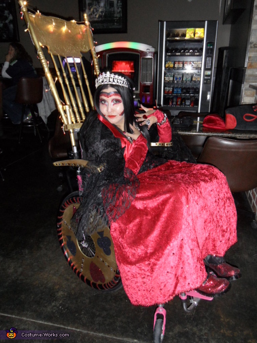 Queen of Hearts and her Throne Costume