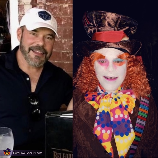 Before and after, Queen of Hearts and Mad Hatter Couple Costume