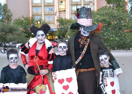 Queen of Hearts and Mad Skeletons Homemade Costume
