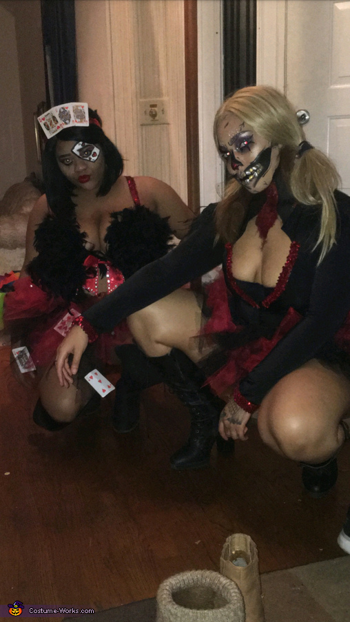 Queen of Hearts and the Joker Homemade Costume