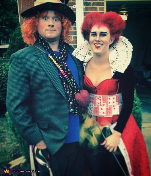 Queen of Hearts and the Mad Hatter Homemade Costume