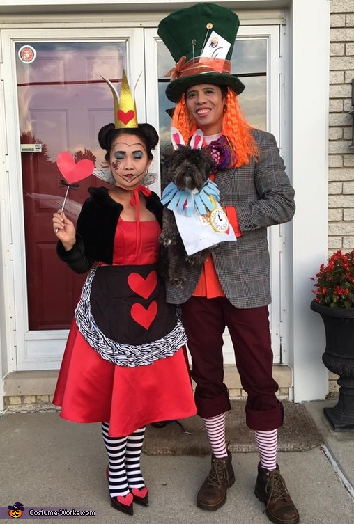 Queen of Hearts, Mad Hatter and White Rabbit Costume