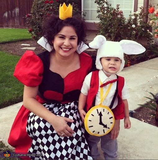 Queen of Hearts & White Rabbit Costume