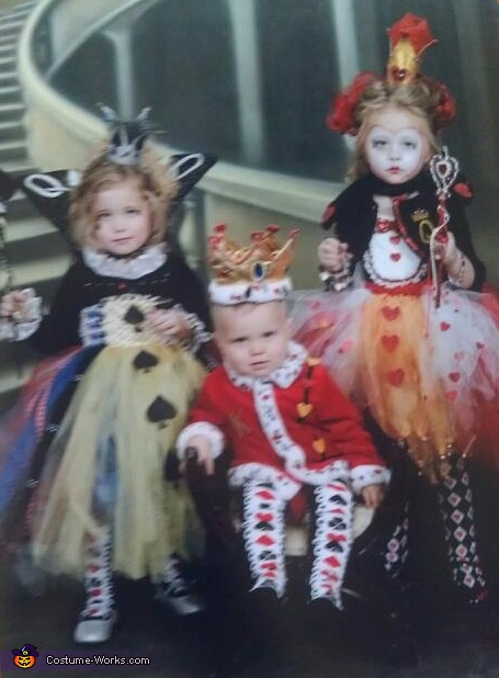 Queen of Spades, Queen of Hearts and King of Hearts Costumes