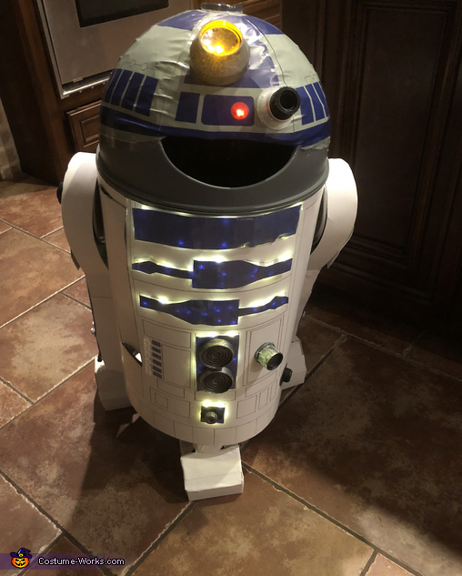 All lit up, R2D2 Costume