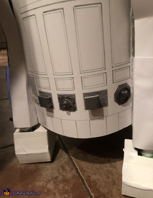 The back, R2D2 Costume