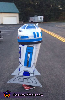 R2D2 side, R2D2 Costume
