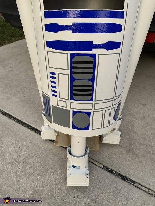 R2D2 decals, R2D2 Costume