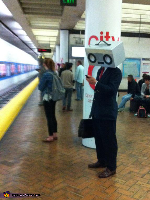 Checking the train schedule on my way to work., RadioHead Costume