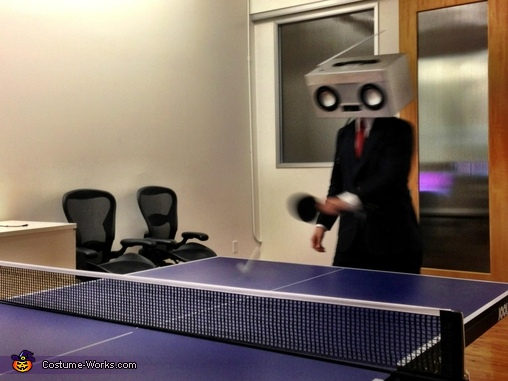 I may not have won the game, but my opponent couldn't play music from his head, so I think we're even., RadioHead Costume