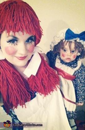 Rag dolls, Rag Doll Raggedy Ann Costume