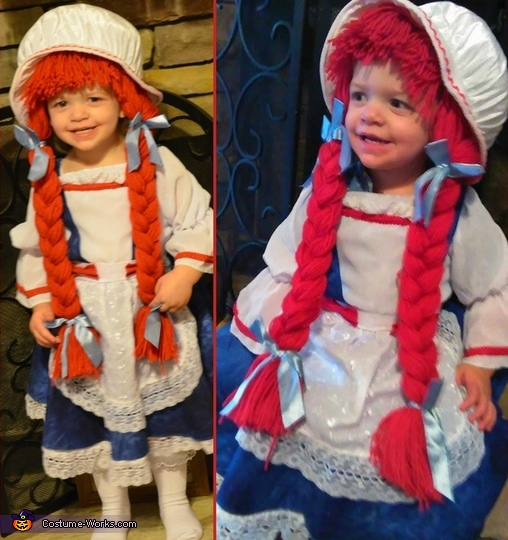 Little Raggedy Ann Homemade Costume