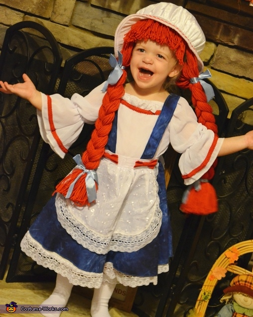 Little Raggedy Ann Costume