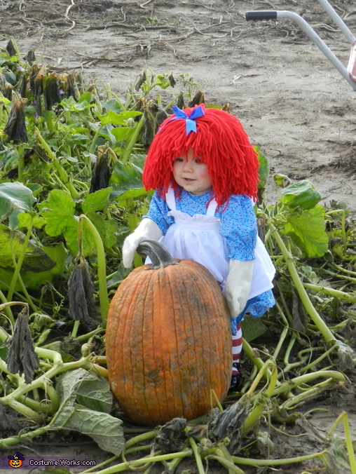 Homemade Raggedy Ann Costume for Babies
