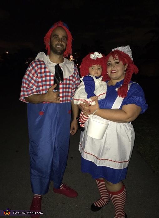 Raggedy Ann, Andy and mini Raggedy Ann, Raggedy Ann Costume