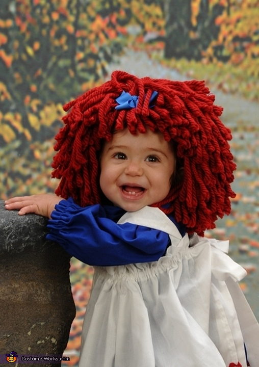 Homemade Raggedy Ann Costume