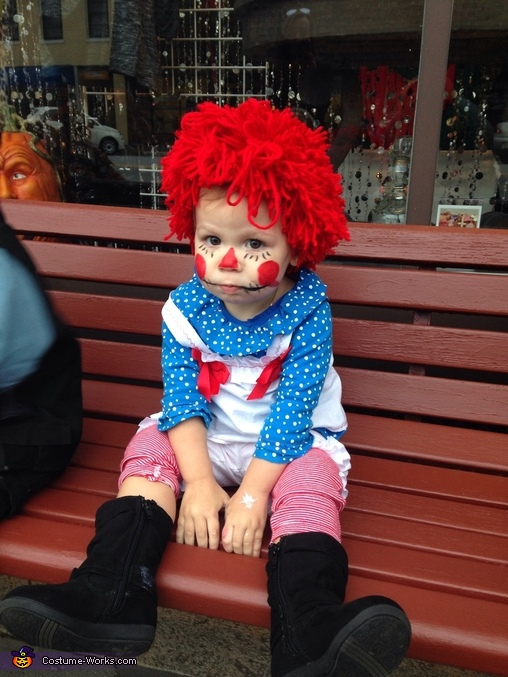 Just hanging out, Raggedy Ann Costume