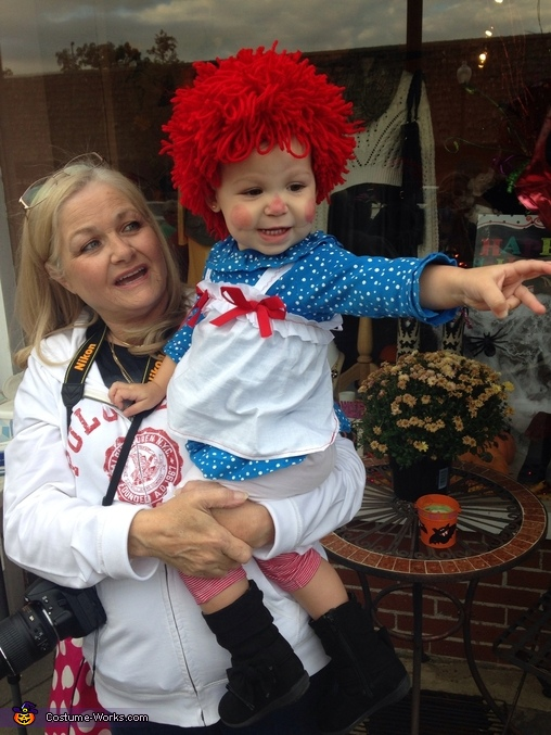 Austyn and her Nonna , Raggedy Ann Costume
