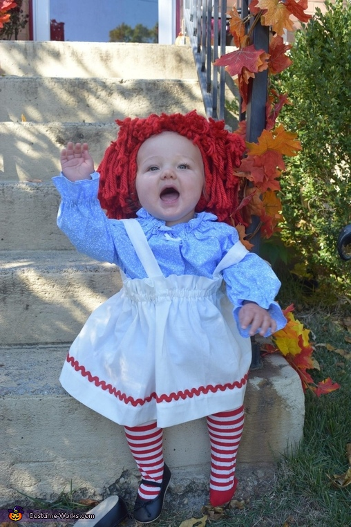 Waving to Raggedy Andy, Raggedy Ann Costume