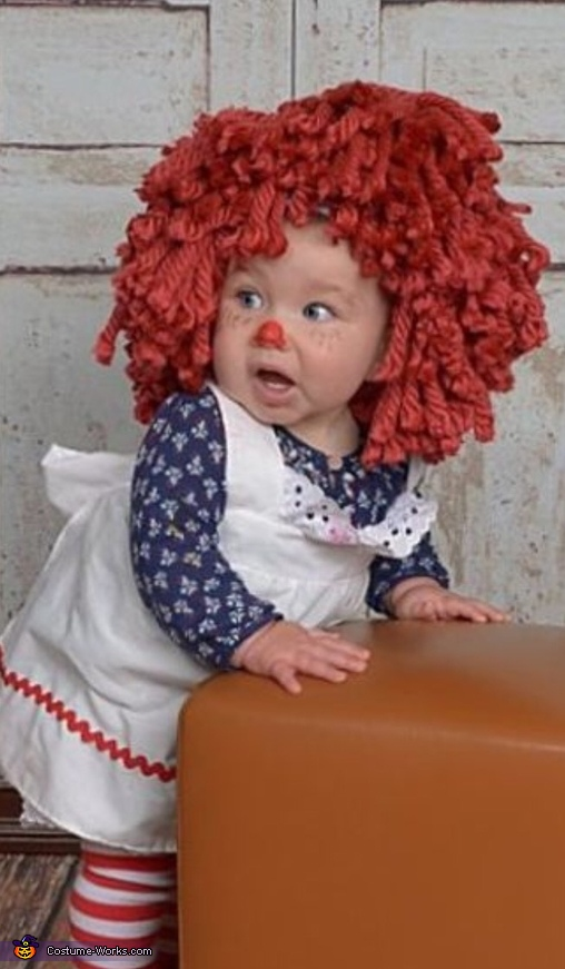 Standing and showing how big she is!, Raggedy Ann Costume