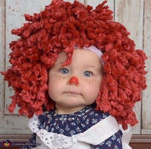 Close up of that sweet little face., Raggedy Ann Costume