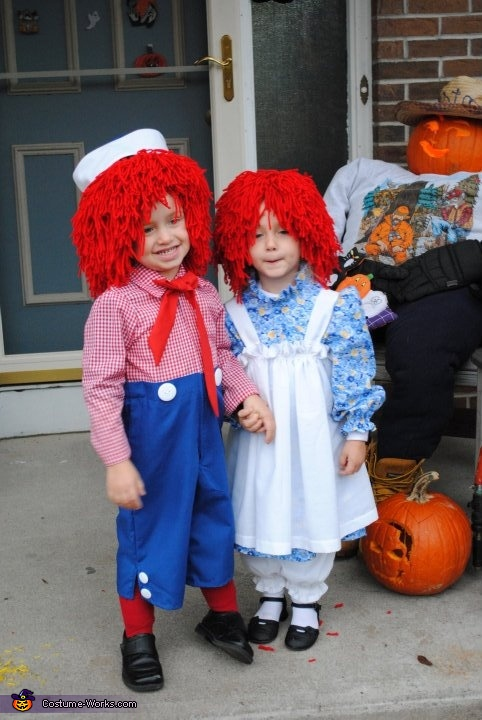 Raggedy Ann and Andy - Homemade costumes for kids