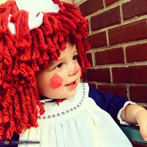 Homemade Raggedy Ann Baby Costume