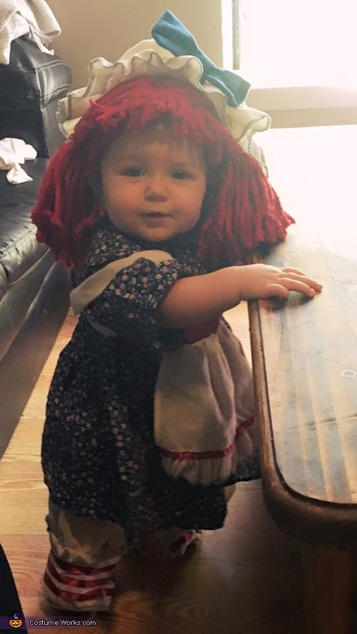 Raggedy Ann Doll Baby Costume Idea