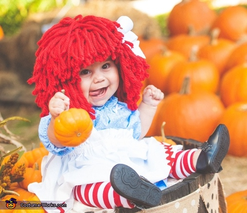 Raggedy Ann in a Pumpkin Patch Costume