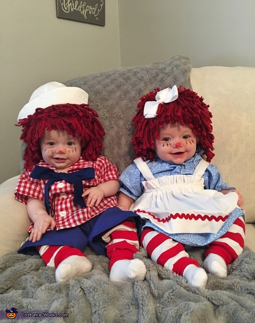 Raggedy ann and andy costume for adult pity, that