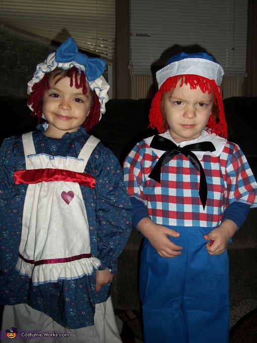 Raggedy Anne & Andy - Homemade costumes for kids