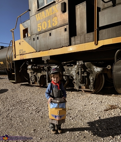 Railroad Family Homemade Costume